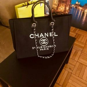 Luxury Chanel Canvas Tote